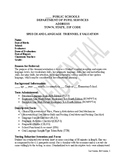 Speech Therapy Evaluation Report Template-Severely Impaired Student