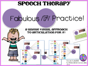 Speech Therapy /F/ Articulation VISUAL AUTISM SPECIAL ED Cue Graphic Organizer
