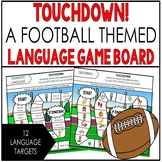 Speech Therapy FOOTBALL Language game BOOM CARDS  12 TARGETS  NO PRINT