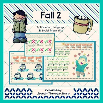 Speech Therapy Fall 2 Bundle: Language, Articulation, & Social Skills