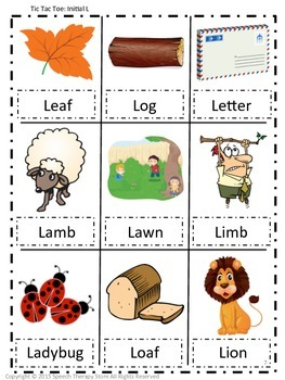 Speech Therapy Fall Articulation L Games