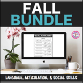 Speech Therapy Fall Bundle: Language, Articulation, & Social Pragmatics