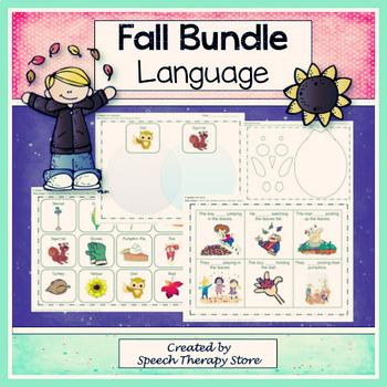 Speech Therapy Fall Language Bundle