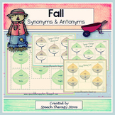 Speech Therapy Fall Synonyms & Antonyms Games