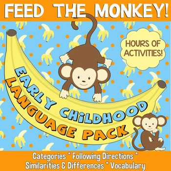 Feed the Monkey! Early Language Pack