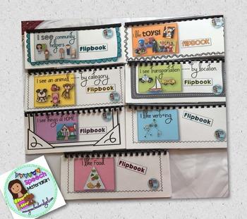 Speech Therapy Flipbooks BUNDLE vocabulary categories expressive language
