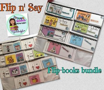 Speech Therapy Flipbooks BUNDLE vocabulary categories expr