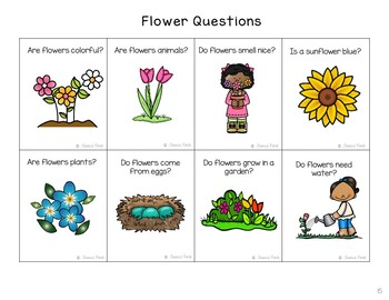 """Language Pack: """"Flowers"""" nonfiction story, vocabulary, concepts, and sequencing"""