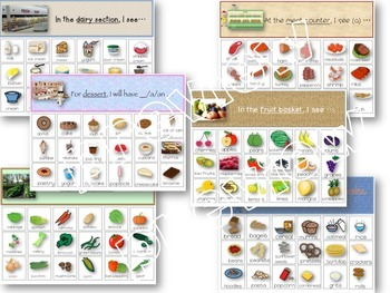 Speech Therapy Fluency Intelligibility & Food Group Categories Activity