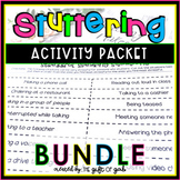 Speech Therapy Fluency & Stuttering Treatment & Activity Packet