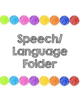 Speech Therapy Folder
