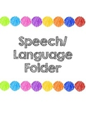 Speech Therapy Folder