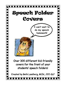Speech Therapy Folder Covers