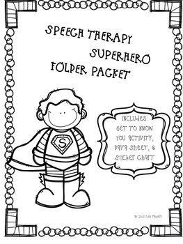 Speech Therapy Folder Packet