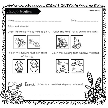 Following Directions | Listening Skills | Frog Theme