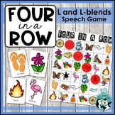 Speech Therapy: Four in a Row - Articulation for L and L Blends