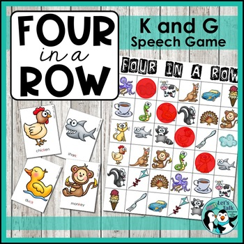 Speech Therapy: Four in a Row - Articulation for K and G