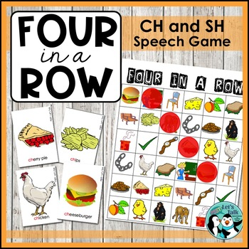 Speech Therapy: Four in a Row - Articulation for SH and CH
