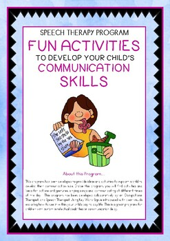 Speech Therapy – Fun Activities to develop Communication Skills (25pg)
