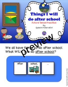 Speech Therapy Future Verb Tense Interactive Booklet After School Activities