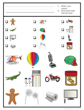 Speech Therapy Game: Multisyllabic Words Find It