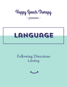 Speech Therapy Game for Following Directions with Noun Labeling