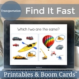 Boom Cards Speech Therapy Games   Distance Learning   Transportation