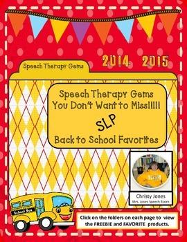 Speech Therapy Gems with Christy Jones (Mrs. Jones Speech Room)