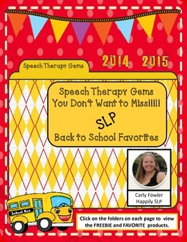 Speech Therapy Gems with Happily SLP (Carly Fowler)