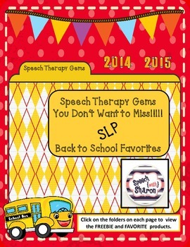 Speech Therapy Gems with Speech with Sharon