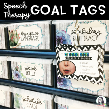 Speech Therapy Goal Tags {Editable}