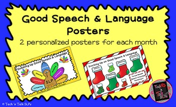 """Speech Therapy """"Good Speech and Language"""" Therapy Posters II"""