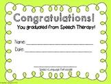 Speech Therapy Graduation & Achievement Certificates