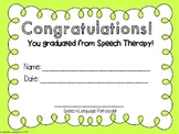 Speech Therapy Graduation & Achievement Certificates