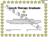 Speech Therapy Graduation Certificate