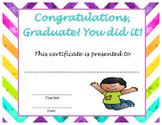 Graduation Certificate - Regular and Speech