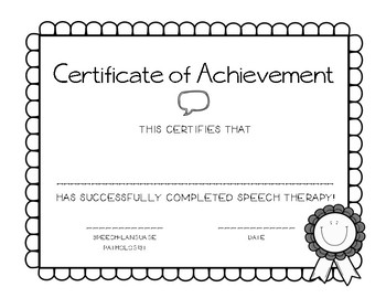 Speech Therapy Graduation Certificate by Iced Coffee Talk ...