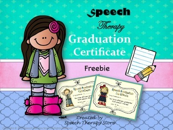 Speech Therapy Graduation Certificates