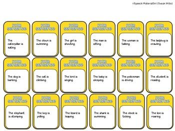 Speech Therapy Grammar Sentence Structure Board Game Beach Time Blast