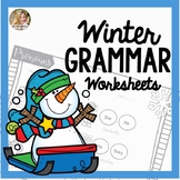 Speech Therapy Grammar Worksheets | Winter Speech and Language