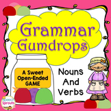 Regular and Irregular Plurals, Past Tense Verbs & S-Blends Grammar Gumdrops