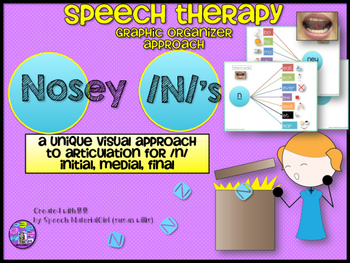 Speech Therapy Graphic Organizer Articulation /n/ initial,