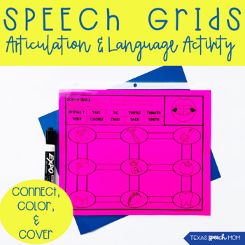 Speech Therapy Grids: No Prep Articulation and Language Drills