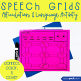 Speech Therapy Grids: No Prep Articulation and Language Dr