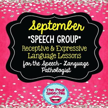 September Speech Therapy
