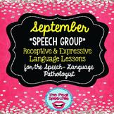 September Speech Therapy