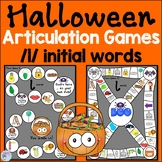 Halloween Speech Therapy Activities for l words