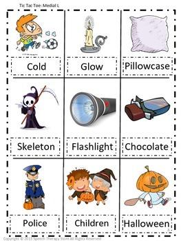 Speech Therapy Halloween Articulation L Games