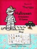 Speech Therapy Halloween Articulation R Games