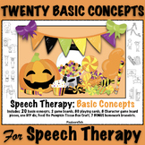 Speech Therapy: Halloween 20 Basic Concepts